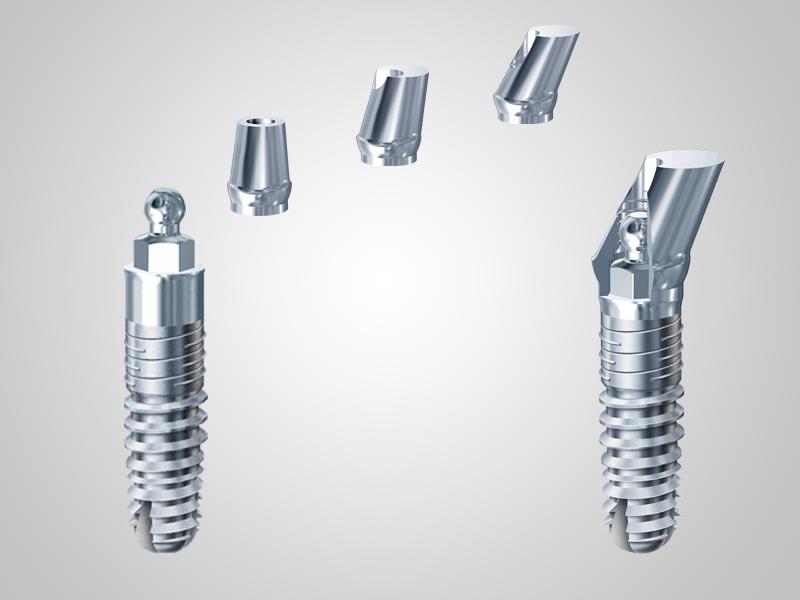 Einteilige Implantate inkl. Abtuments für 0° 15° und 25°