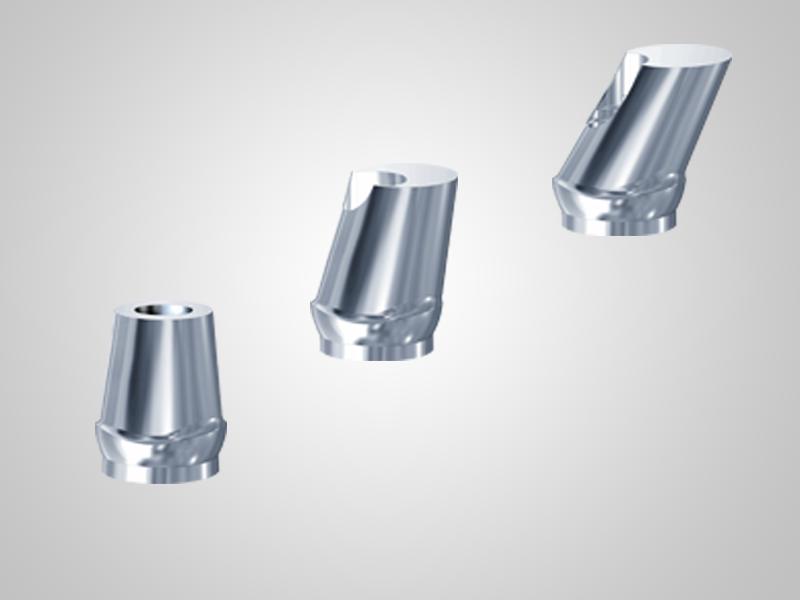 Abitements für einteilige Mini-Implantate ø 3,3mm und 3,8mm