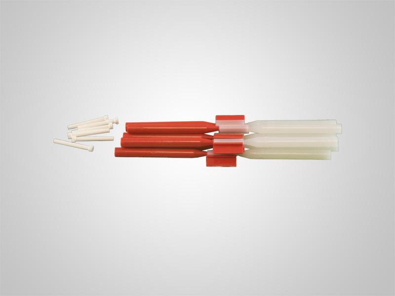OM-Geschiebe ø 1,0 mm - Enthält 6 Matrizen und 6 Patrizen, inkl. 6 Keramikstifte
