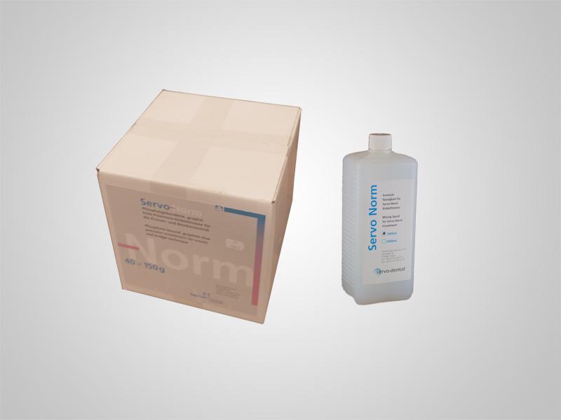 Einbettmasse - Servo-Norm 40x150g inklusive 1l Liquid
