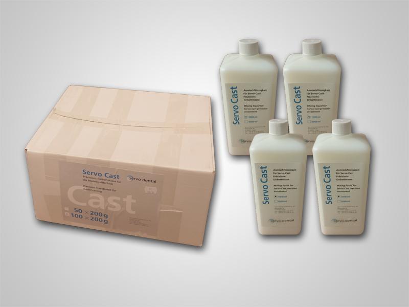 Servo-Cast 100x200g inklusive 4x1l Liquid