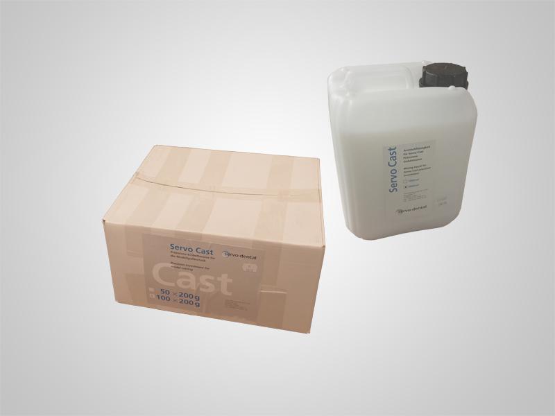 Servo-Cast Einbettmasse 100x200g inklusive 5l Liquid