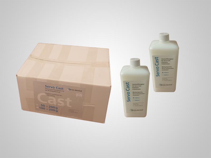 Servo-Cast Einbettmasse 50x150g inklusive 2l Liquide